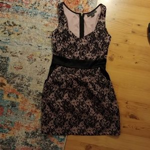 Dresses & Skirts - Gorgeous small pink with black lace dress